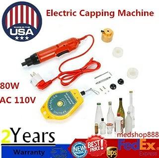 DONNGYZ Manual Bottle Capping Machine 110V Electric Torsion Screw Capper Sealing Machine Portable Handheld Bottle Cap Sealer Tools