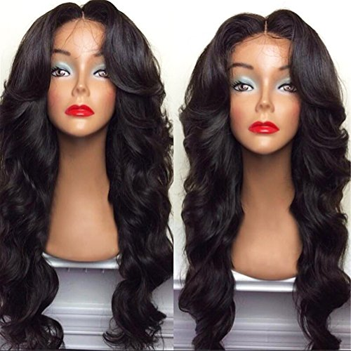 """BlueSpace Wigs 28"""" Women Girls Long Curly Hair Heat Resistant Fiber With Free Wig Cap Halloween Cosplay Costume Party Anime Wigs ,(black)"""