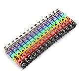 0-9 Juego de marcador cable cable, cables plástico con código de color, tubo marcador nu...