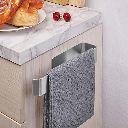 JS Toallero Autoadhesivo de Acero Inoxidable de 25 cm, Soporte para Toallas de té, Montaje en Pared, toallero de Mano para Cocina, baño