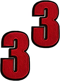 red iron on numbers