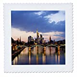 3dRose qs_52350_1 Frankfurt Germany-Quilt Square, 10 by