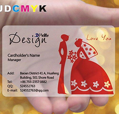 jdcmyk @ 500pcs personalizado tarjeta de visita impresión/plástico transparente PVC tarjeta de nombre impresión/impermeable/VIP tarjeta de visita/libre diseño