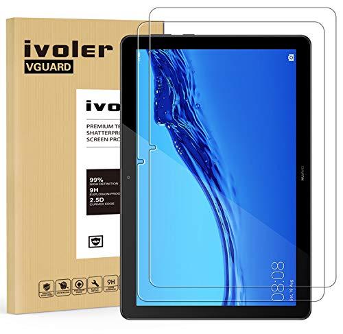 iVoler [2 Pack] Pellicola Vetro Temperato per Huawei MediaPad T5 10.1 Pollici, Pellicola Protettiva, Protezione per Schermo
