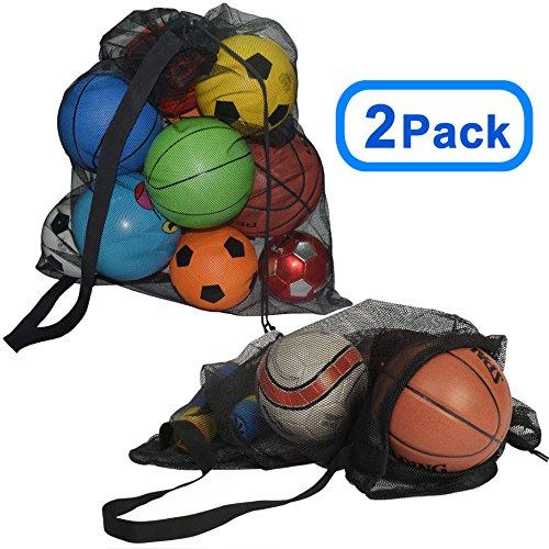 SKOLOO Skoda Balltasche mit Kordelzug und Netzstoff, für große Sportbälle, 2 Schwarz (Schwarz) - SKQLSNWD290302