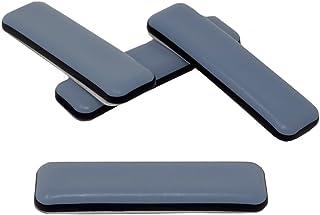 16-pieza Controles deslizantes de muebles de teflón 19 x 70 mm Autoadhesivo, Controles deslizantes PTFE