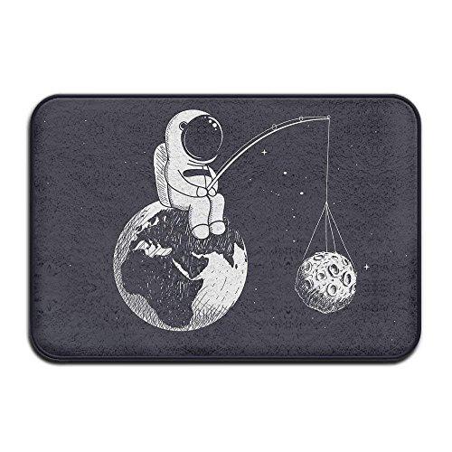 Klotr Tapis De Bain, Doormat Astronaut Fishing Planet Indoor Outdoor Doormats Super Absorbs Mud Dirt Easy Clean Cute Cat Floor Rug Door Mats 15.7\
