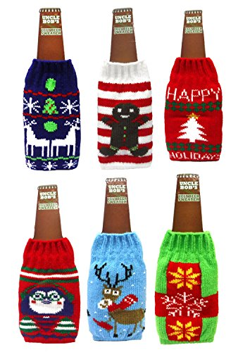 Uncle Bob's Ugly Beer Sweater Novelty Bottle Covers (Set of Six) (Set of Six)