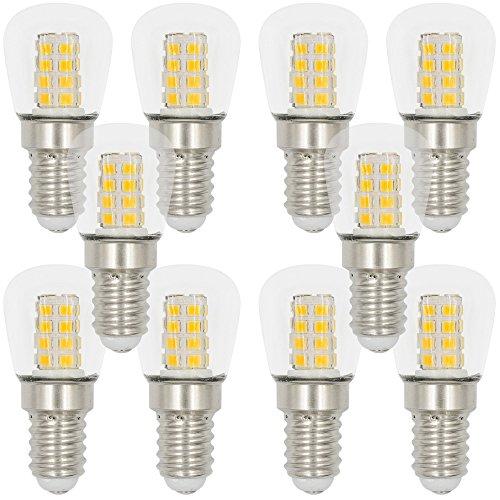 MENGS® 10 Stück E14 LED Kühlschrank Birne Lampe 3W Warmweiß 3000K AC 220-240V 26x2835 SMD Mit Glas Mantel