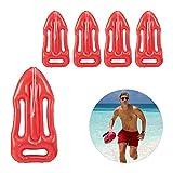 Relaxdays Pack 5 Boyas Inflables para Disfraz o Decoración, Plástico, Rojo, 7 x 30 x 64 cm