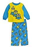 Despicable Me Little Boys Minions 2pc Printed Micro Fleece Pajama Pant Set (2T)