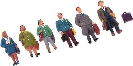 Flameer HO OO Model Train Railway Scenery Salesman Figure Model Toy Layout Scenery 6