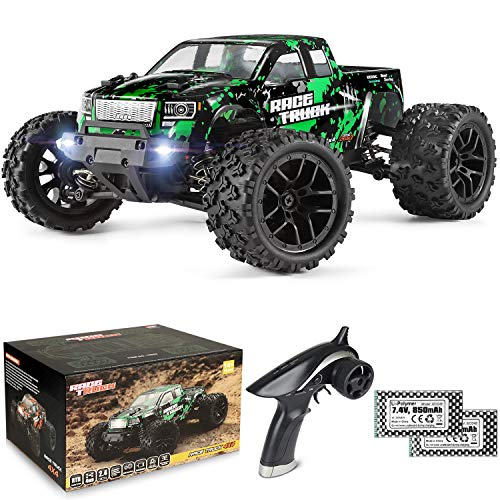 HAIBOXING 1:18 Scale All Terrain RC Car 18859E, 36 KPH High Speed 4WD Electric Vehicle with 2.4 GHz Remote Control, 4X4 Waterproof Off-Road Truck with Two Rechargeable Batteries