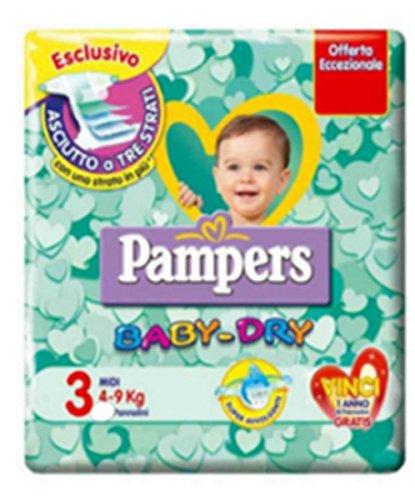 120 Windeln Bambino Größe 3 Pampers Baby Dry Windel Maßnahme Midi- BabyDry