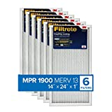 Filtrete 14x24x1, AC Furnace Air Filter, MPR 1900, Healthy Living Ultimate Allergen, 6-Pack (exact dimensions...