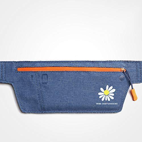 Guoc Cinturón portaobjetos Resistente al Agua con Banda elástica Ajustable para Hacer Ejercicio,Running,rutas en Bici y Actividades al Aire Libre