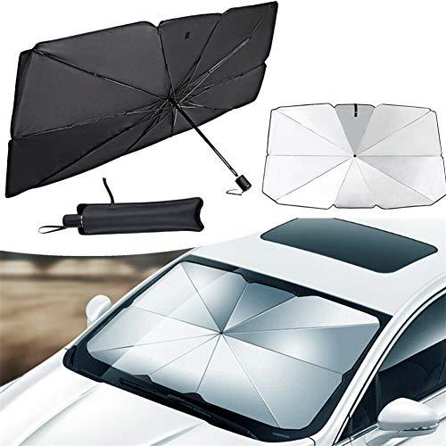 CHERITY Auto Windschutzscheibe Sonnenschirm Regenschirm, Faltbare Sonnenblende Tönung Folie für Frontfenster, Universal Auto Fenster Sonnenschutz Vorhang, UV Schutz Wärmereflektor