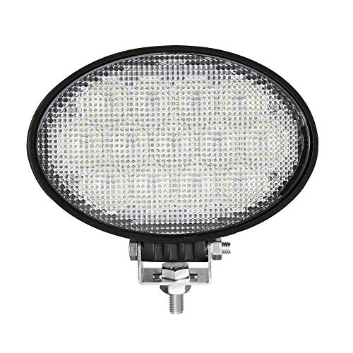 Primelux 6.5-inch 13x5W 5850lm Oval LED Work Light High Power Working Lamps for Agricultural Tractors Heavy Duty Vehicles Construction Machines (Flood Beam)