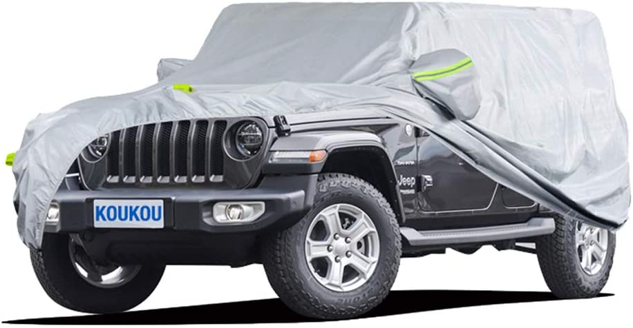 KouKou 6 Layers SUV Car Cover Waterproof half Weather Jeep for Max 42% OFF All
