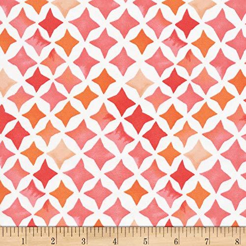 Cloud 9 Fabrics Organic Field & Sky Sunset Stars Cotton Sateen Pink/White Fabric by the Yard