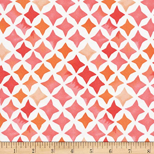 Cloud 9 Fabrics Organic Field & Sky Sunset Stars Cotton Sateen Pink/White Fabric by the Yard