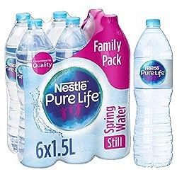 Nestlé Pure Life Still Spring Water, 6 x 1.5L
