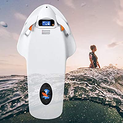 HTOMT Underwater Scooter Sea Scooter 4-Level Rotational Speed,Water Surfboard, Electric Swimming Kickboard, Smart Somatosensory Surfing Board Swimming Aids, Can be Used to Assist in Learning to Swim