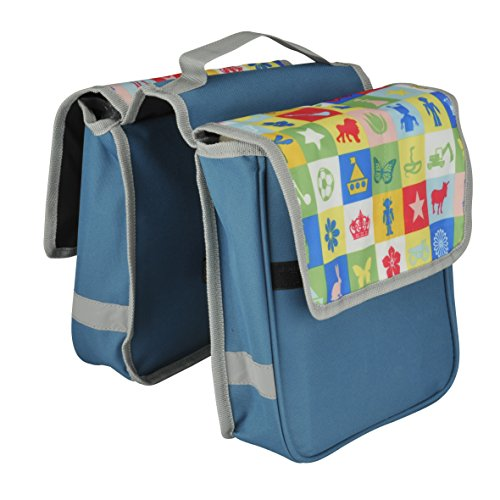 FISCHER Kinder Gepäckträgertasche Tasche, blau, 4 x 28 x 35 cm, 6 Liter