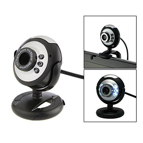 Demiawaking Webcam USB HD 12.0 MP 6 LED con Microfono e Visione Notturna Webcam per PC Fotocamera per PC con Microfono per Computer Desktop PC Portatili