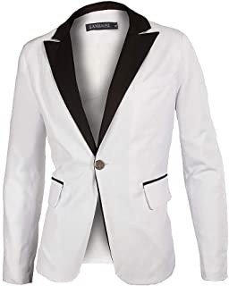 Men's White Groom Shawl Lapel Collar Tuxedo Jacket Tailored Dinner Blazer