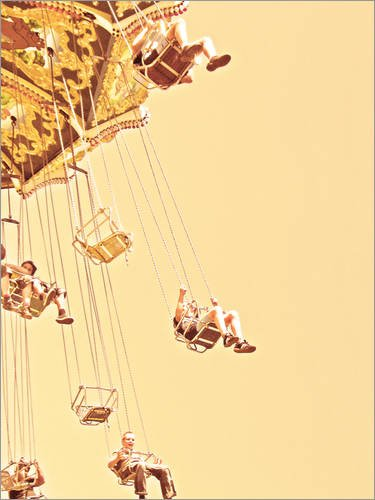 Posterlounge Acrylglasbild 70 x 90 cm: Karussell in Sepia von Die Farbenflüsterin - Wandbild, Acryl Glasbild, Druck auf Acryl Glas Bild