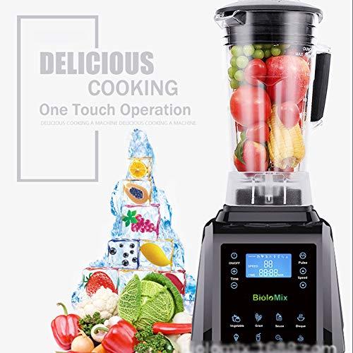 2200W Personal Blender 45000 RPM Nutrient Extractor Met 8 Preset Soft-Touch-Programma Voor Groenten, Graan, Saus, Hete Soep, Ijs, Smoothies, Malen, Vleesmalen