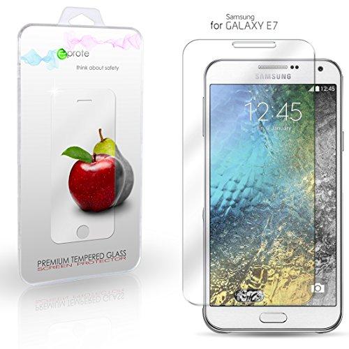 Samsung Galaxy E7 Hartglas Schutzfolie Bildschirmschutz, Gehärtetem Glass Folie für Samsung E7, 5.5 Zoll - 9H Glashärte, Kratzfeste & Ölabweisende Beschichtung, HD Transparenz & Feingefühl