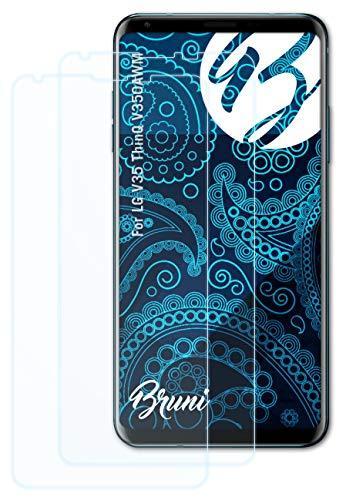 Bruni Schutzfolie kompatibel mit LG V35 ThinQ V350AWM Folie, glasklare Bildschirmschutzfolie (2X)