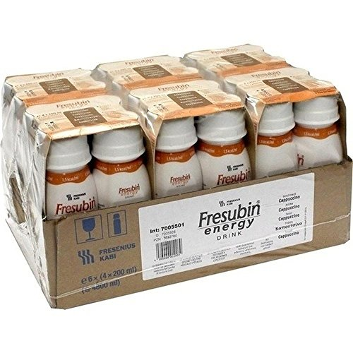 Fresenius Kabi Fresubin Energy Drink Cappuccino Trinkflasche, 6 x 4 x 200 ml, 1er Pack (1 x 5,5 kg)