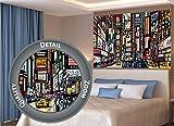 GREAT ART XXL Póster – Broadway – Nueva York Mural de Estilo cómico Decoración de la Pared City Skyline Sightseeing Artist Art Illustration Motif Mega City Decoration (140 x 100 cm)