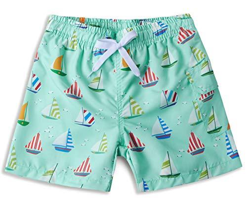 ALISISTER Lustig Segelboot Badehose Schnelltrocknend Badeshorts Kinder Sommer Strand Board Shorts 3D Druck Strandbadebekleidung