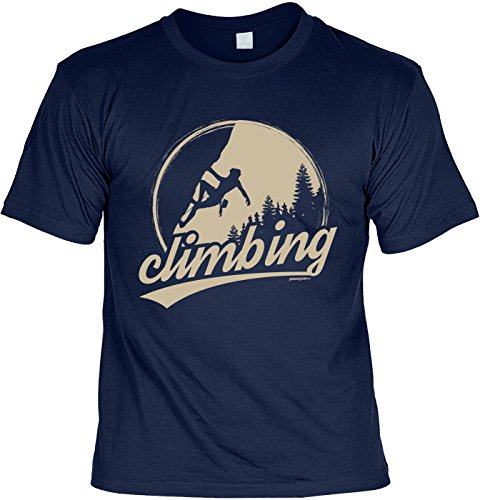 Wanderer Bergsteiger Sprüche T-Shirt Naturfreunde : Climbing -Tshirt Berge Wandern Klettern Gr: L