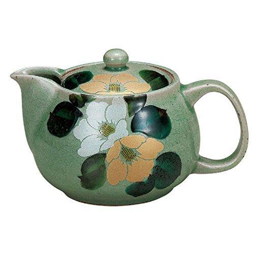 Japans keramiek porselein kutani ware. Japanse pot theepot. goud en zilver Camelia. Japanse keramiek Hagiyakiya K4-584