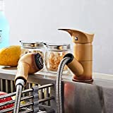 WANDOM <span class='highlight'>Pull</span> <span class='highlight'>Out</span> <span class='highlight'>Cool</span> <span class='highlight'>Painted</span> <span class='highlight'>Finish</span> Flexible Hot and Cold Mixer Sink Taps Deck Mount Swivels Extensible Basin <span class='highlight'>Faucet</span>s Bathroom <span class='highlight'>Kitchen</span>