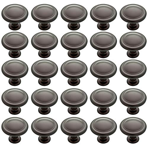 Franklin Brass P35597K-OB3-B1 Round Ringed Kitchen Cabinet Drawer Knob, 25-Pack, Oil Rubbed Bronze, 25 Count