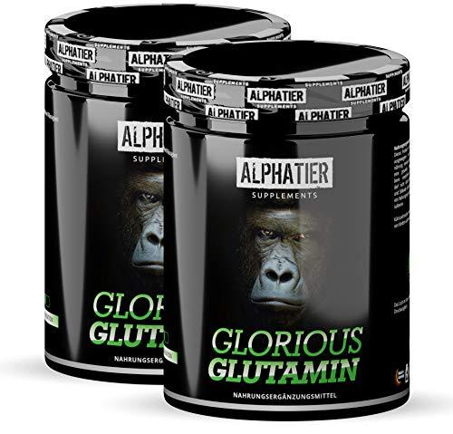 L-GLUTAMINE Powder 1kg Ultrapure - 99,95{e31ad85be85bdda59d7ebcf0115773e6d5df5258114652439578954fd8adb5ee} rein - MAXIMALE DOSIERUNG - ALPHATIER Glorious Glutamin Pulver ohne Zusatzstoffe - 1000g Doppelpack - glutenfrei - laktosefrei - vegan