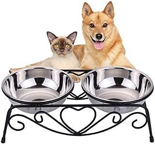 VIVIKO ペット用品 犬のボウル 猫のボウル ご飯入れ 食器 食事 台 高品質ステンレス製 餌やり 水やり 洗いやすい 清潔 (S)