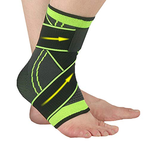 Ankle Brace for Women amp Men 1Pair  Sports Ankle Support Air Knit Fabric for Ankle Sleeve Achilles Tendon Support and Plantar Fasciitis Relieve Ankle Swelling Joint Pain