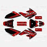 Red & Black Shift Graphic Kit fit Honda 04-19 CRF70 Shroud Decal CRF 70 80 100