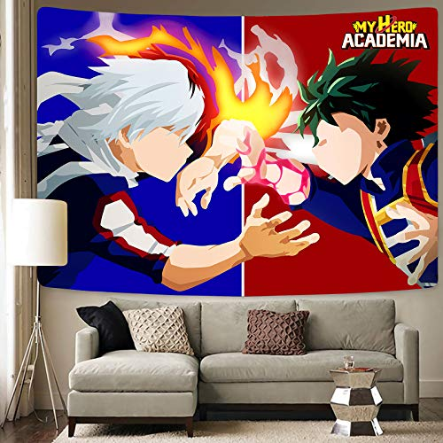 My Hero Academia Tapestry-Anime Tapestry-My Hero Academia Poster-Anime Decoración de fiesta de cumpleaños en la sala de estar,...