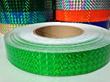 30 ft. roll of 1' Neon Green Metallic Holographic Hula Hoop Craft Tape