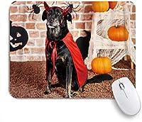 NIESIKKLAマウスパッド 悪魔の深刻な犬 ゲーミング オフィス最適 高級感 おしゃれ 防水 耐久性が良い 滑り止めゴム底 ゲーミングなど適用 用ノートブックコンピュータマウスマット