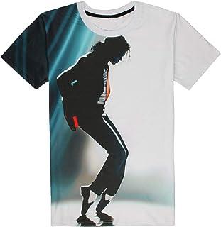 wholesale dealer f2658 ed634 Shuanghao MJ Michael Jackson Space Danse Top Punk Coton 100% Coloré T-Shirt  T
