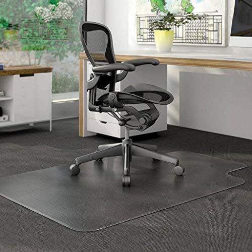 TIKNPOL Bodenschutzmatte Transparent,Teppich Schutz Kratzfest rutschfest Stuhlmatten Bodenmatten Stühle Move Reibungslos-90cm(35.43inch)-Transparent